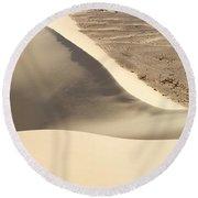 Great Dune At Aswan Round Beach Towel