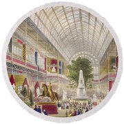 Great Exhibition, 1851 South Transept Round Beach Towel