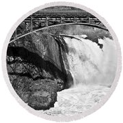 Great Falls In Paterson Nj Round Beach Towel