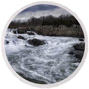 Great Falls Round Beach Towel