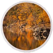 Great Falls National Park Round Beach Towel