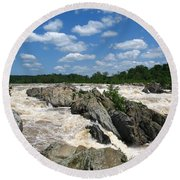Great Falls On The Potomac Round Beach Towel