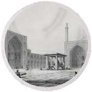 Great Friday Mosque In Isfahan Round Beach Towel