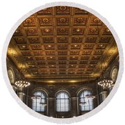 Great Hall St. Louis Central Library Round Beach Towel
