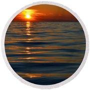 Great Lake Sunset Round Beach Towel
