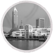 Great Lakes Science Center Cleveland Round Beach Towel
