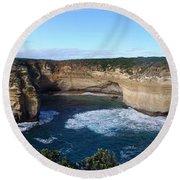 Great Ocean Road, Australia - Panoramic Round Beach Towel