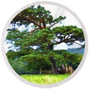 Great Pine Round Beach Towel