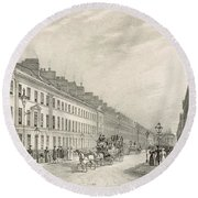Great Pultney Street, Bath, C.1883 Round Beach Towel