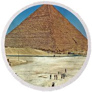 Great Pyramid Of Giza Round Beach Towel