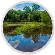 Great Reflections Round Beach Towel