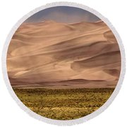 Great Sand Dunes In Colorado Round Beach Towel