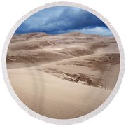Great Sand Dunes National Park In Colorado Round Beach Towel