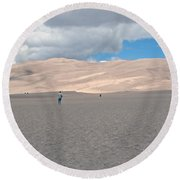 Great Sand Dunes Park Round Beach Towel