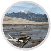 Great Sand Dunes Two Round Beach Towel