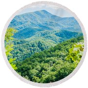 Great Smoky Mountains National Park Near Gatlinburg Tennessee. Round Beach Towel