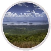 Great View On Top Of Cadilac Mountain Round Beach Towel