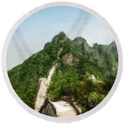 Great Wall 0033 - Acanthus Round Beach Towel