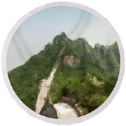 Great Wall 0033 - Neo Round Beach Towel