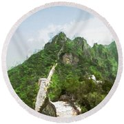 Great Wall 0033 - Oil Stain Sl Round Beach Towel