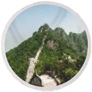 Great Wall 0033 - Pastel Chalk 2 Round Beach Towel
