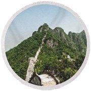 Great Wall 0033 - Pastel Chalk 2 Sl Round Beach Towel