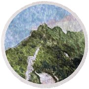 Great Wall 0033 - Watercolor 2 Sl Round Beach Towel