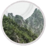 Great Wall 0043 - Light Colored Pencils Sl Round Beach Towel