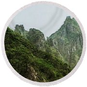 Great Wall 0043 - Lux Hp Round Beach Towel