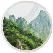 Great Wall 0043 - Oil Stain Sl Round Beach Towel