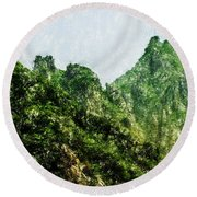 Great Wall 0043 - Pastel Pencils Hp Round Beach Towel