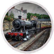 Great Western Locomotive Round Beach Towel