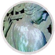 Grecian Goddess Round Beach Towel