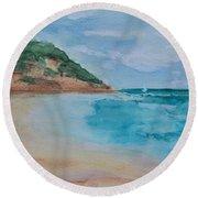 Grecian Sea Round Beach Towel
