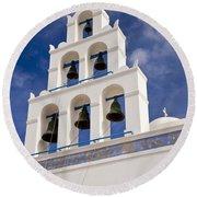 Greek Church Bells Round Beach Towel