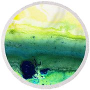 Green Abstract Art - Life Song - By Sharon Cummings Round Beach Towel