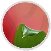 Green And Red Round Beach Towel