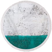 Green And White Wall Texture Round Beach Towel
