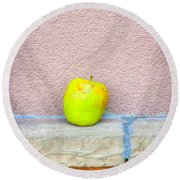 Green Apple Round Beach Towel