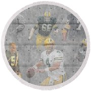 Green Bay Packers Legends Round Beach Towel