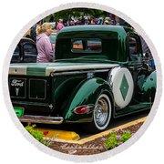 Green Dream Ford Round Beach Towel