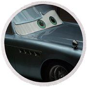 Green Eyed Finn Mcmissile Round Beach Towel by Thomas Woolworth