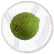Green Fig Round Beach Towel