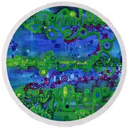 Green Functions Round Beach Towel