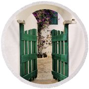 Green Gate Round Beach Towel