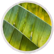 Green Leaves Series 14 Round Beach Towel