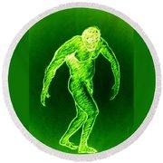 Green Man Arises Round Beach Towel