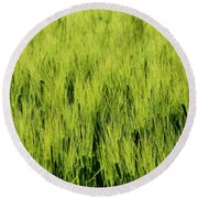 Green Nature Round Beach Towel