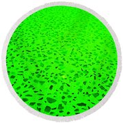 Green Representational Abstract Round Beach Towel