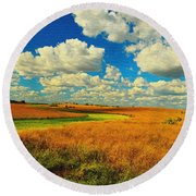 Green River Texturized Round Beach Towel